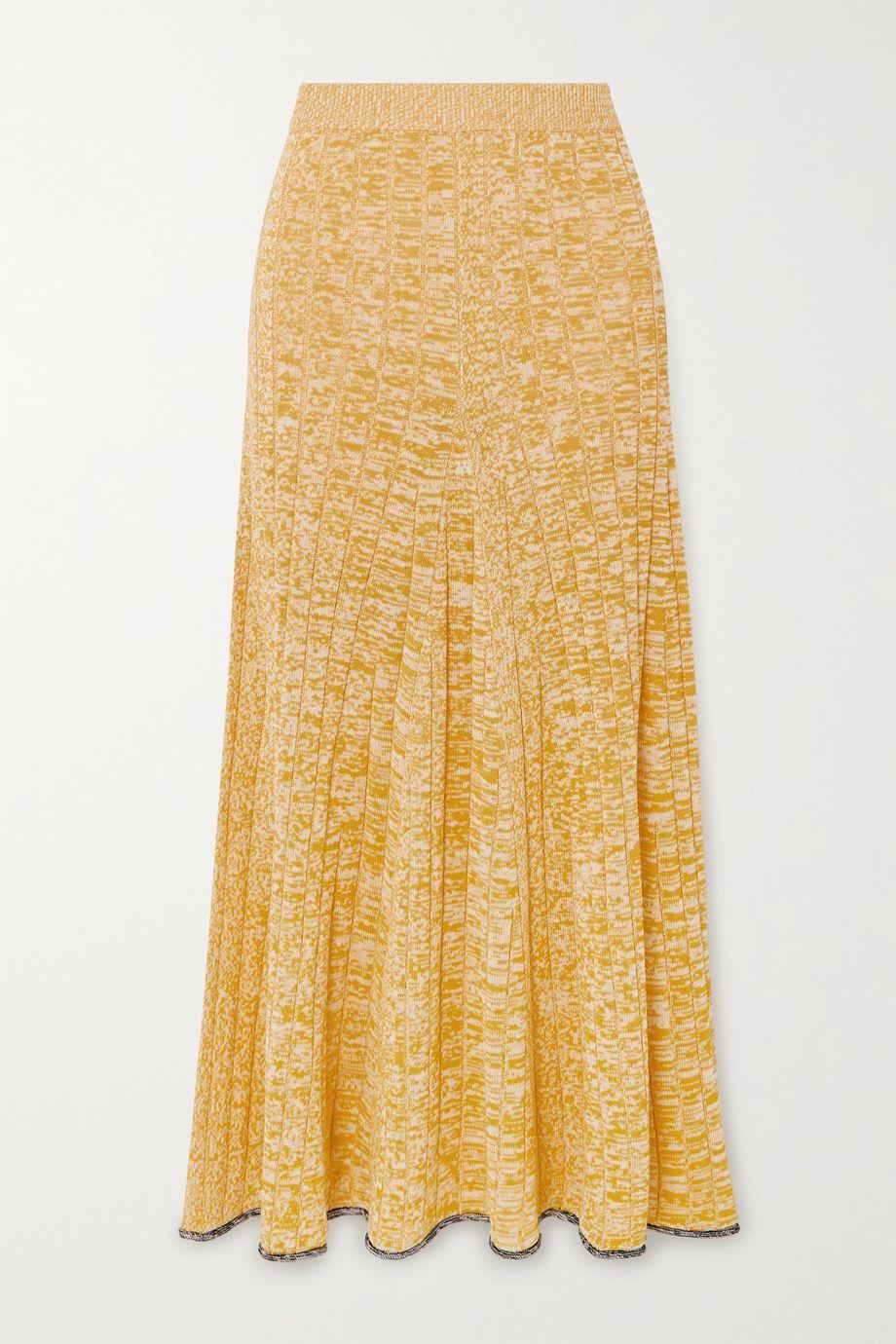 Joseph Sally mélange ribbed-knit midi skirt