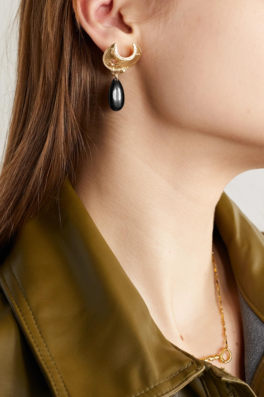 Alighieri Nightfall gold-plated onyx earrings