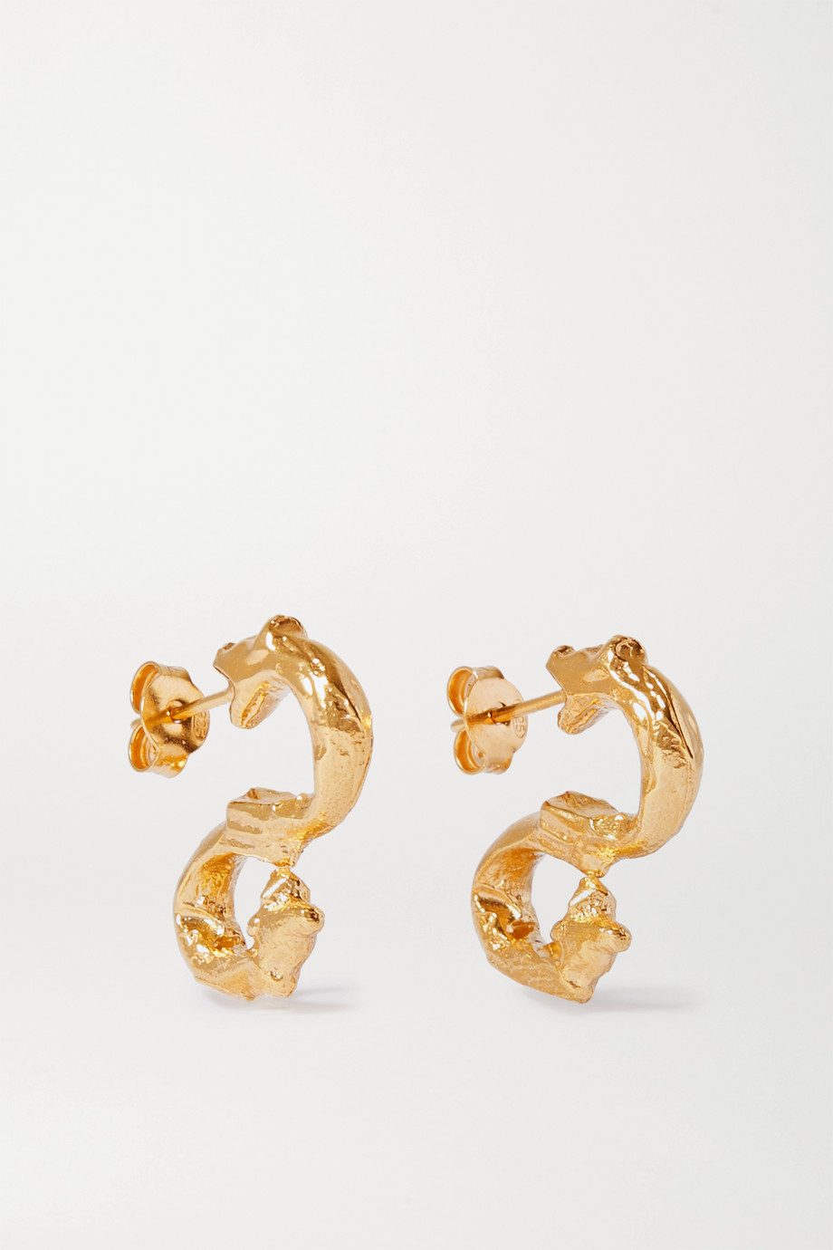 Alighieri Parola Ornata gold-plated earrings