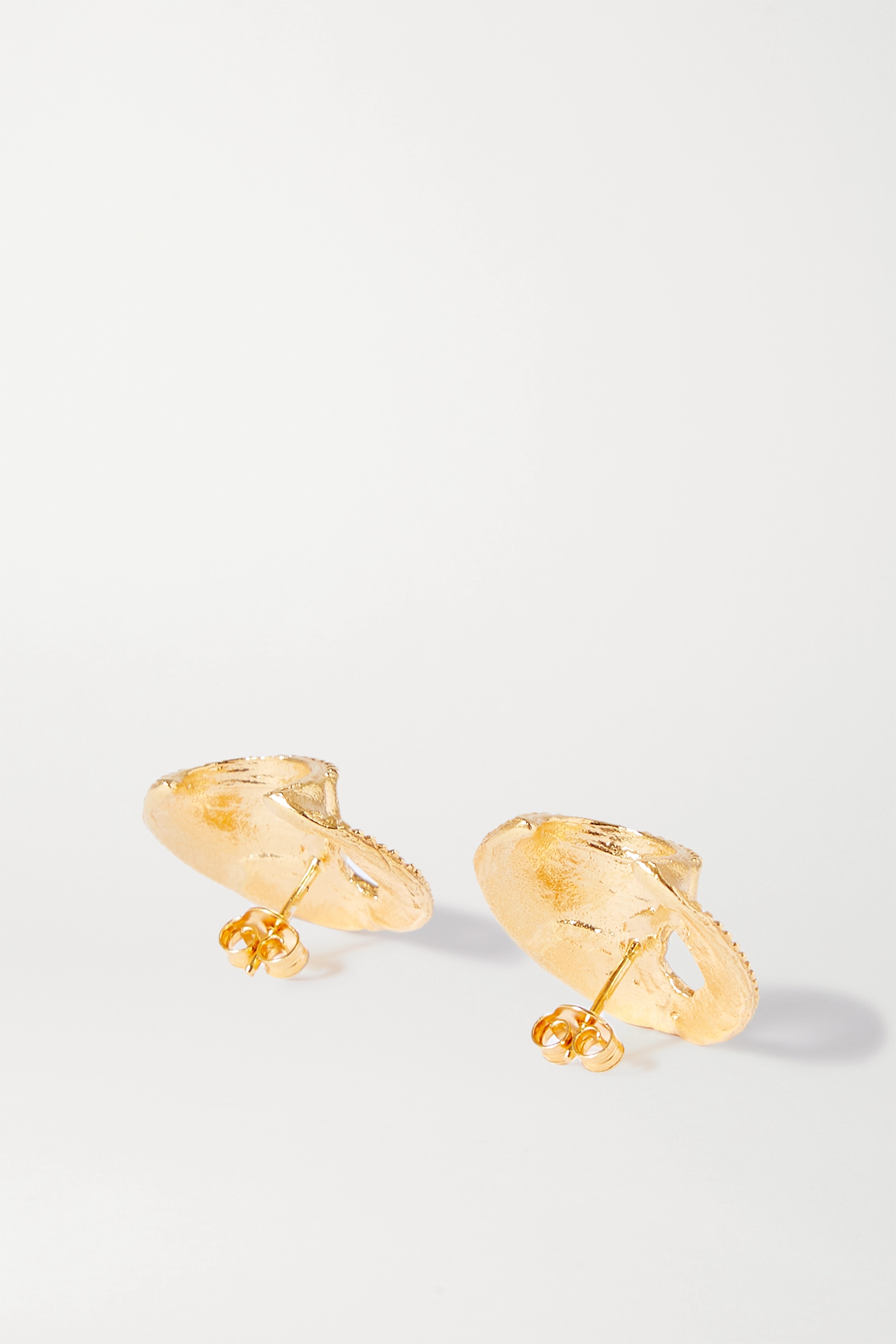 Alighieri The Shield of Poetry gold-plated earrings