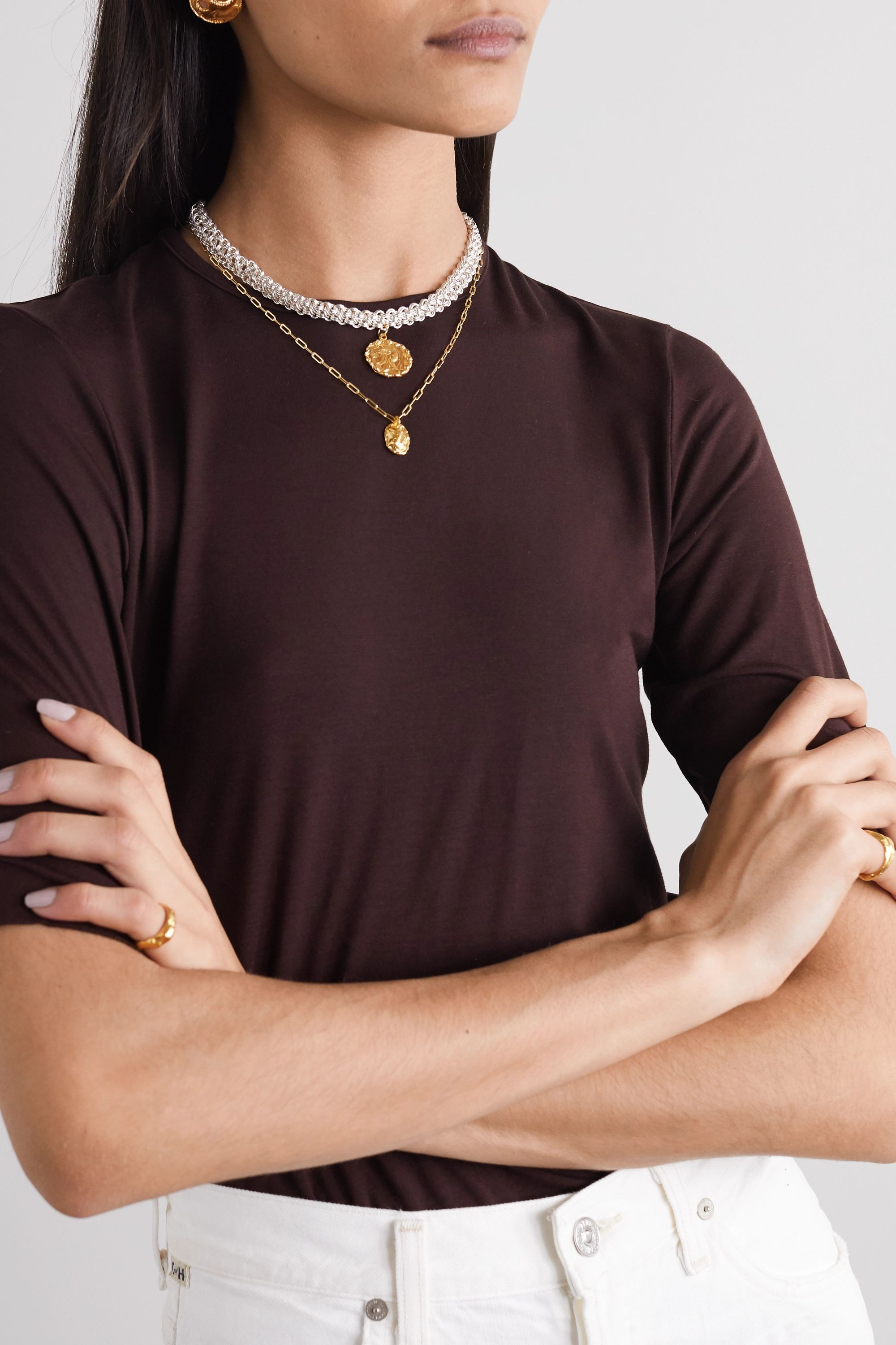 Alighieri The Woven Tapestry silver and gold-plated necklace