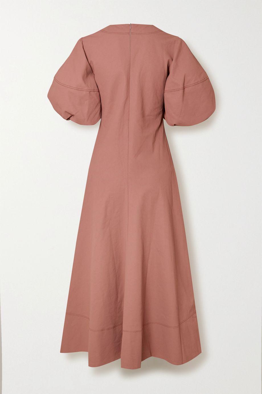 Lee Mathews Queenie linen and cotton-blend maxi dress