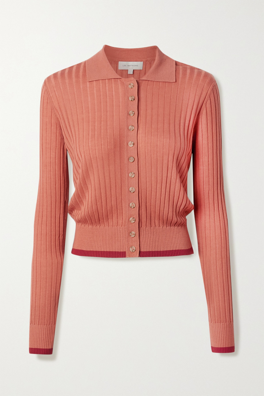 Lee Mathews Ribbed Tencel cardigan