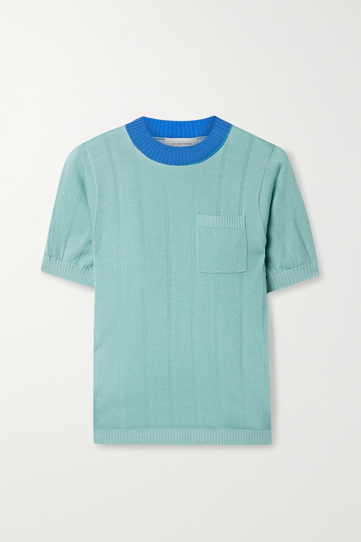 Lee Mathews Ribbed Tencel sweater