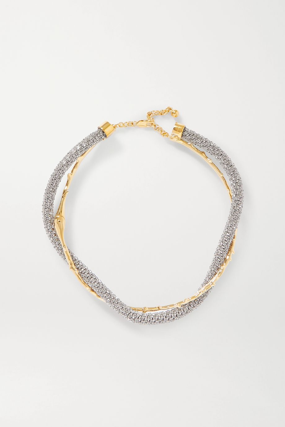 Chloé Daria gold and silver-tone crystal necklace