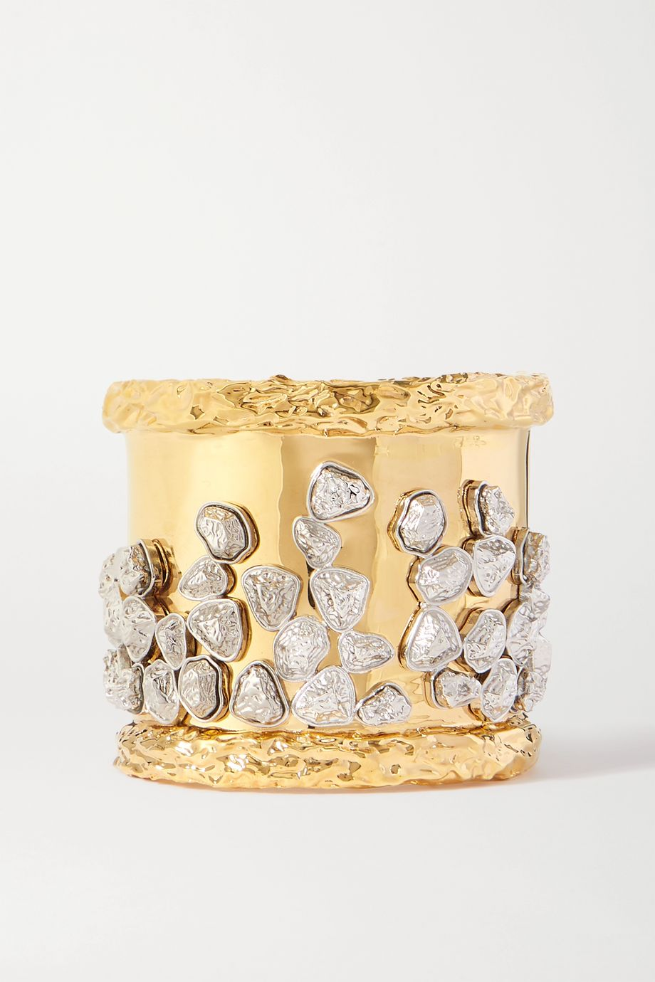 Chloé Dollee gold and silver-plated crystal cuff