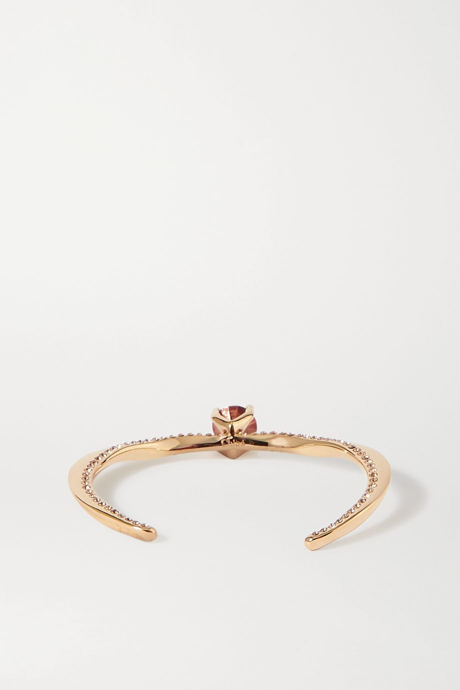 Chloé Denise gold-plated crystal cuff