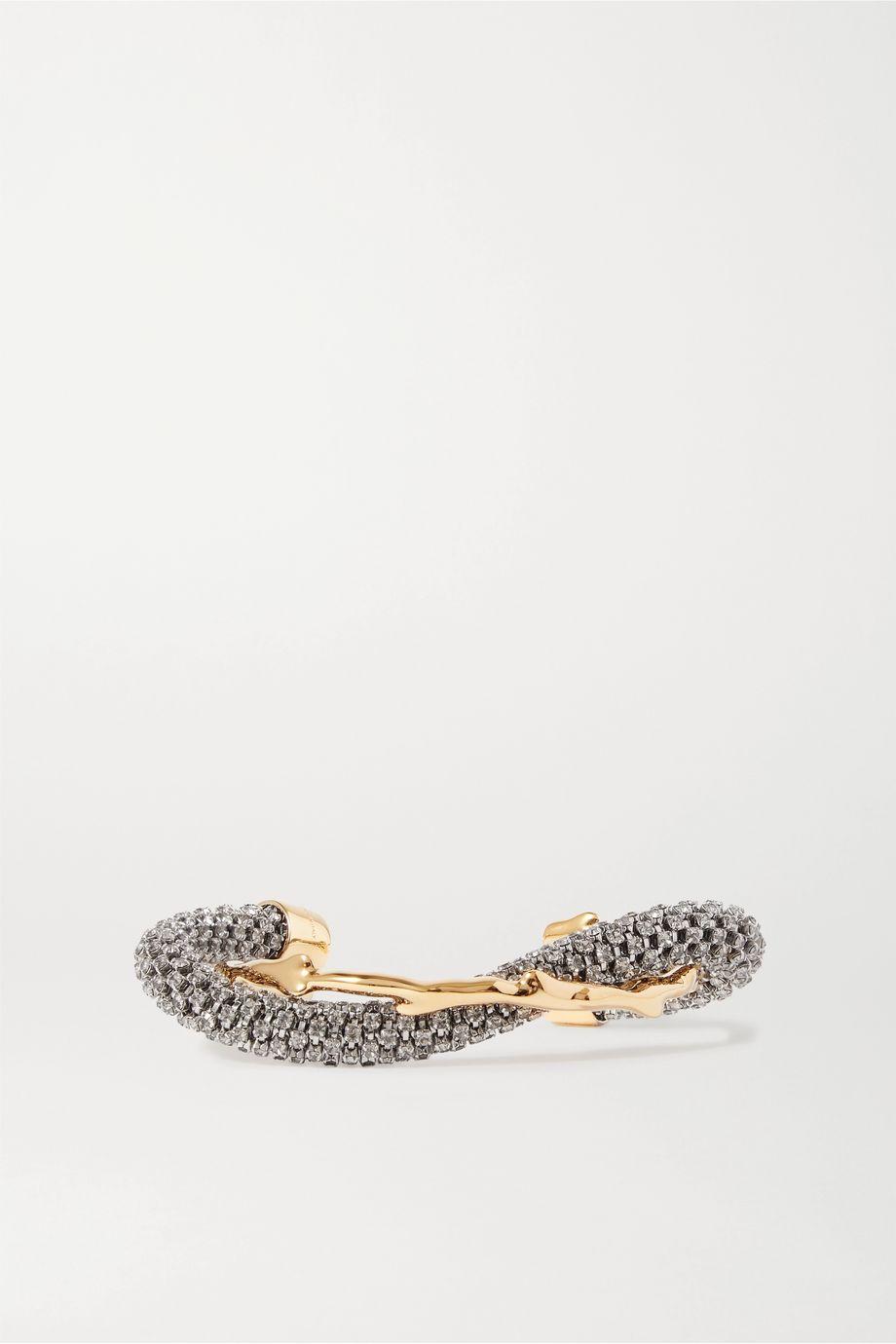 Chloé Daria Swarovski crystal-embellished gold-tone bracelet