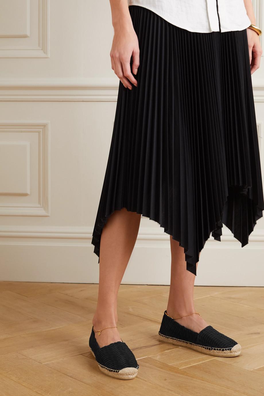 Stella McCartney Chaussures plates façon espadrilles en raphia tressé à ornements Hestia