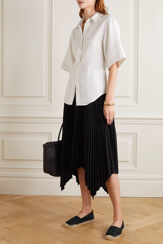 Stella McCartney Hestia embellished woven raffia espadrilles