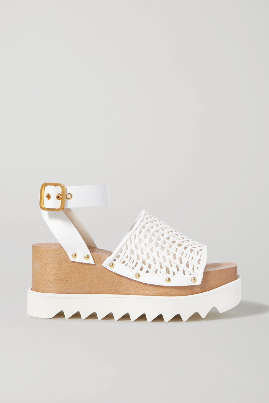 Stella McCartney Elyse raffia and vegetarian leather platform sandals