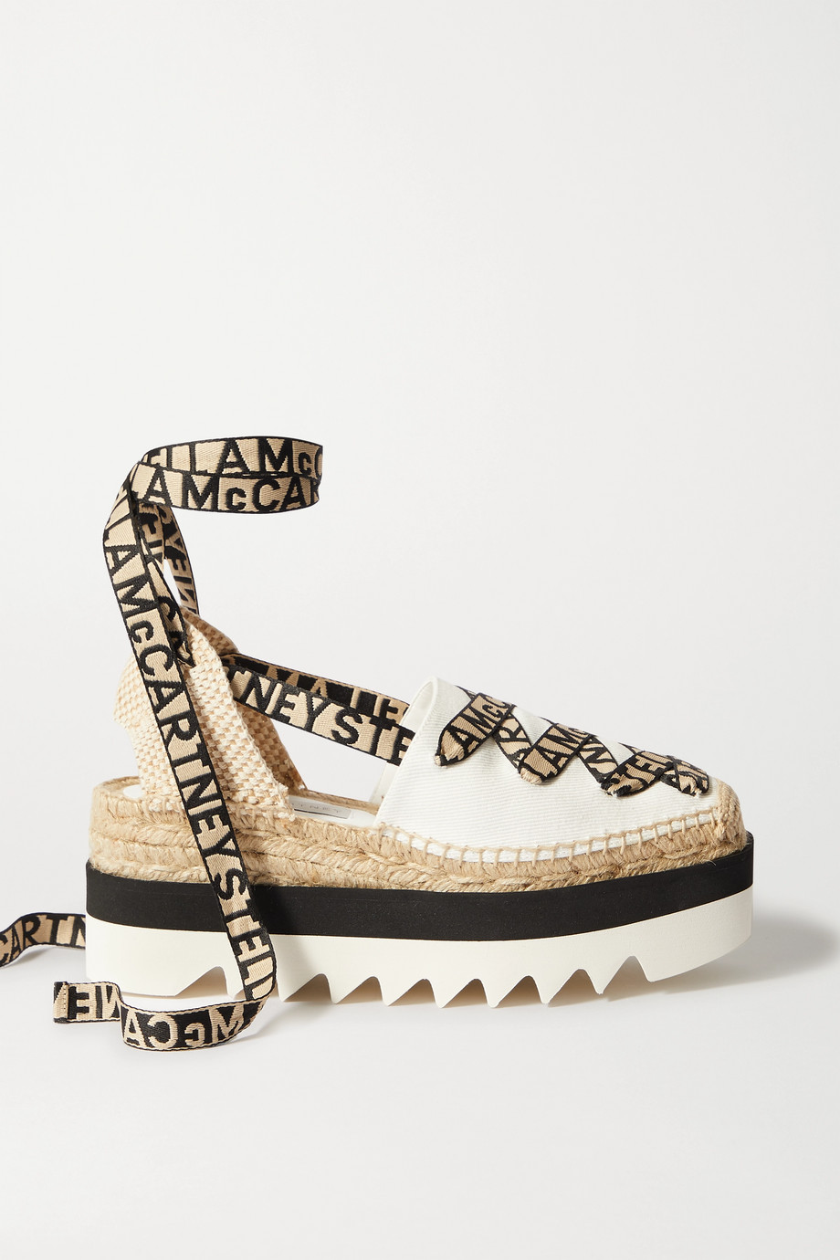 Stella McCartney Gaia canvas platform espadrilles