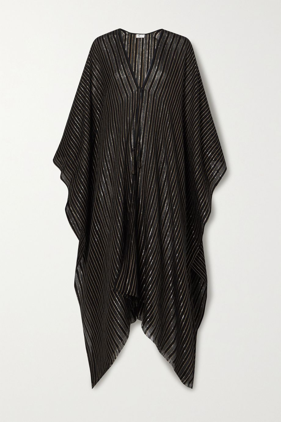 SAINT LAURENT Metallic striped gauze wrap