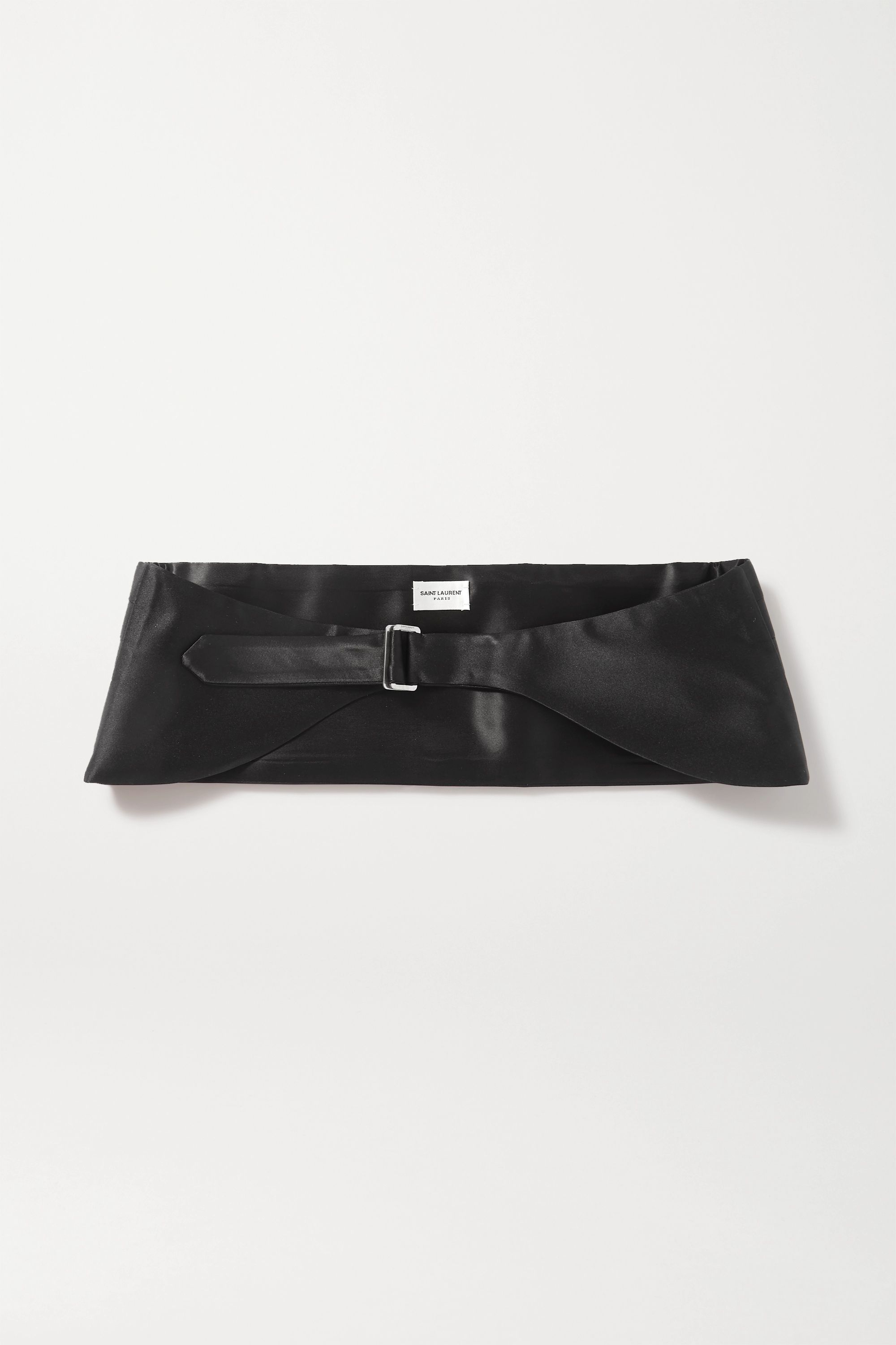SAINT LAURENT Pleated silk-satin belt