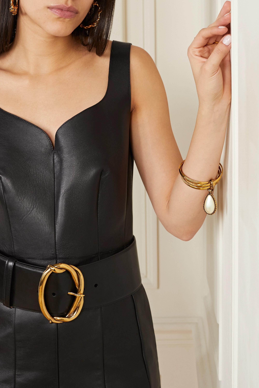 Alexander McQueen Gold-tone faux pearl bangle