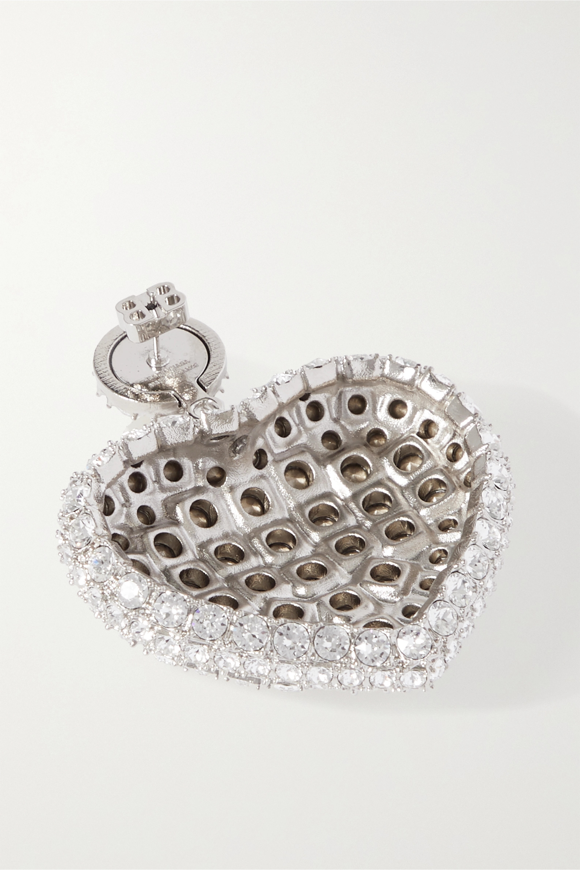 Balenciaga Silver-tone crystal earrings