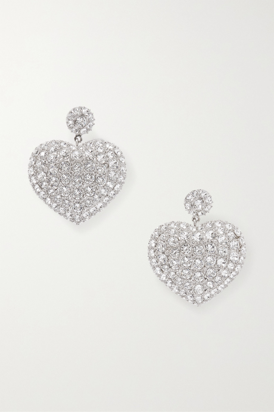 Balenciaga Silver-tone crystal earrings