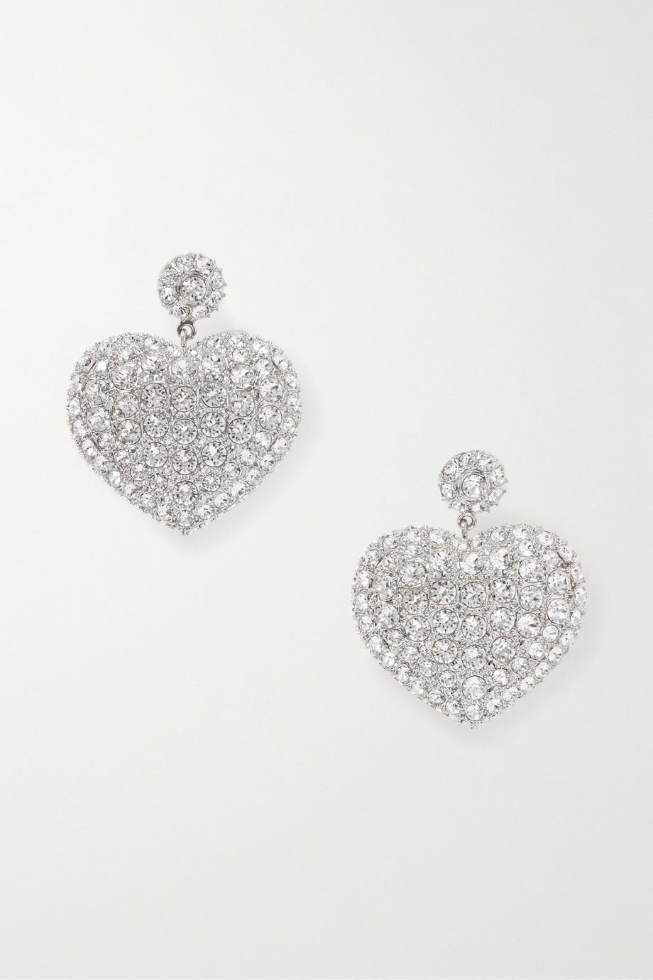 Balenciaga 水晶银色耳环