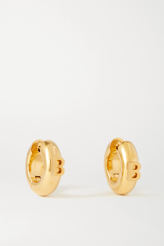 Balenciaga Goldfarbene Creolen