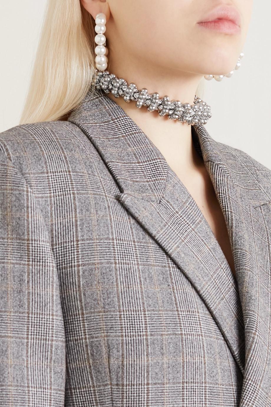 Balenciaga Silver-tone crystal choker