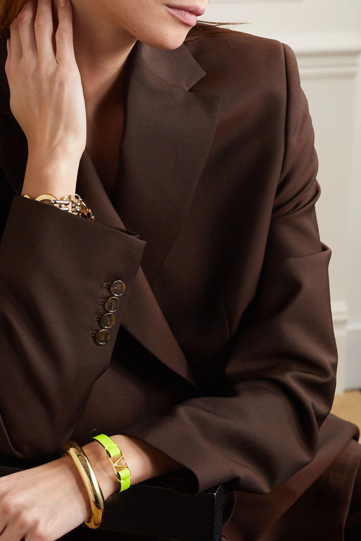 Valentino Valentino Garavani neon leather and gold-tone bracelet