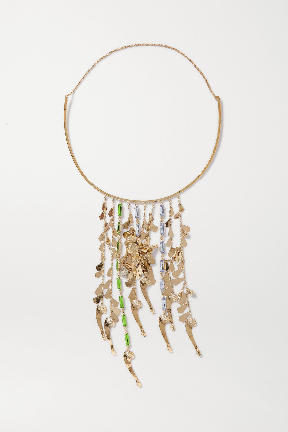 Valentino Valentino Garavani Cult gold-tone crystal necklace