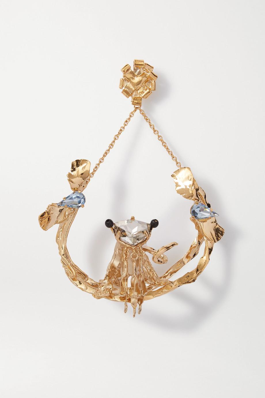 Valentino Valentino Garavani goldfarbener Ohrring mit Kristallen