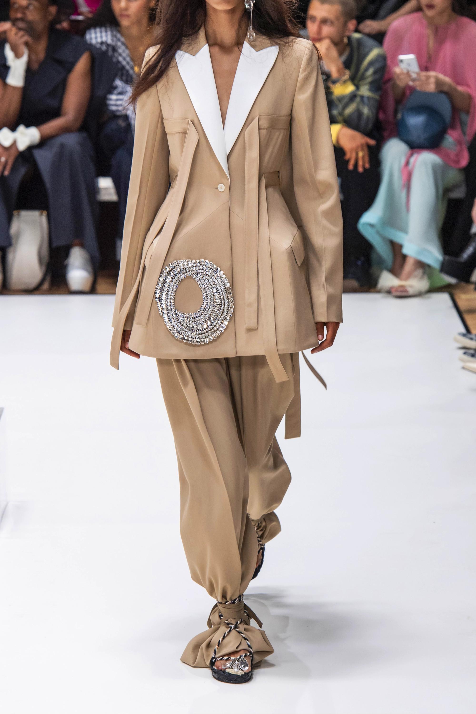 JW Anderson Crystal-embellished satin-trimmed wool-twill blazer