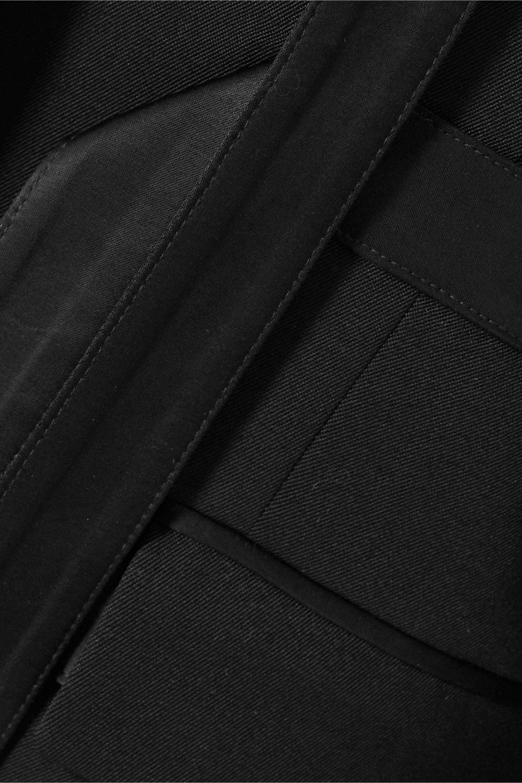 JW Anderson Satin-trimmed wool-twill blazer