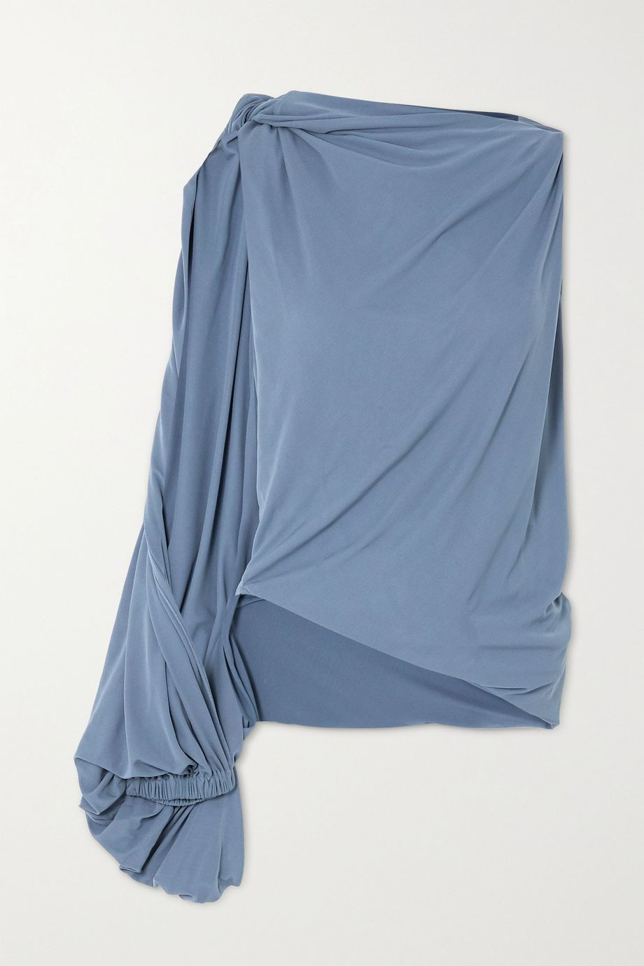 JW Anderson One-sleeve draped crepe top