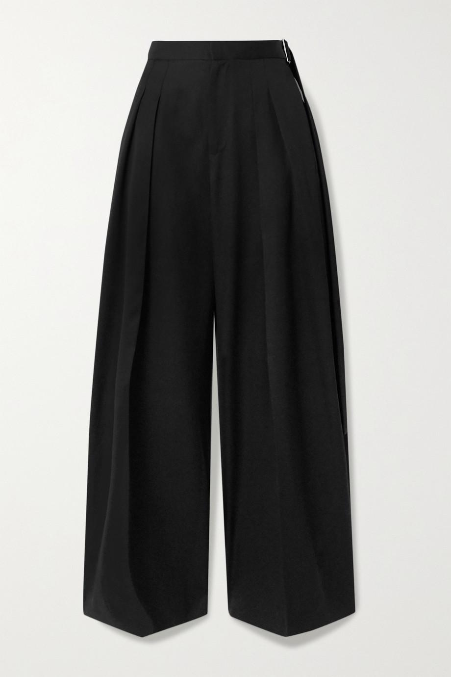 JW Anderson Belted wool-twill wide-leg pants