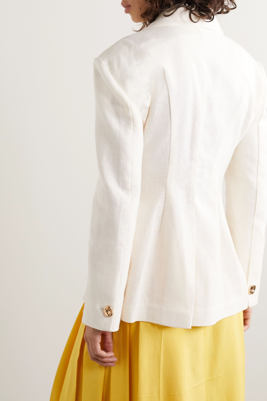 REJINA PYO Jodie linen and cotton-blend blazer