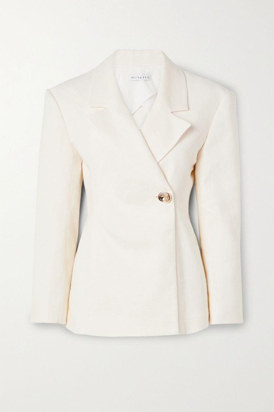REJINA PYO Jodie linen and cotton-blend blazer