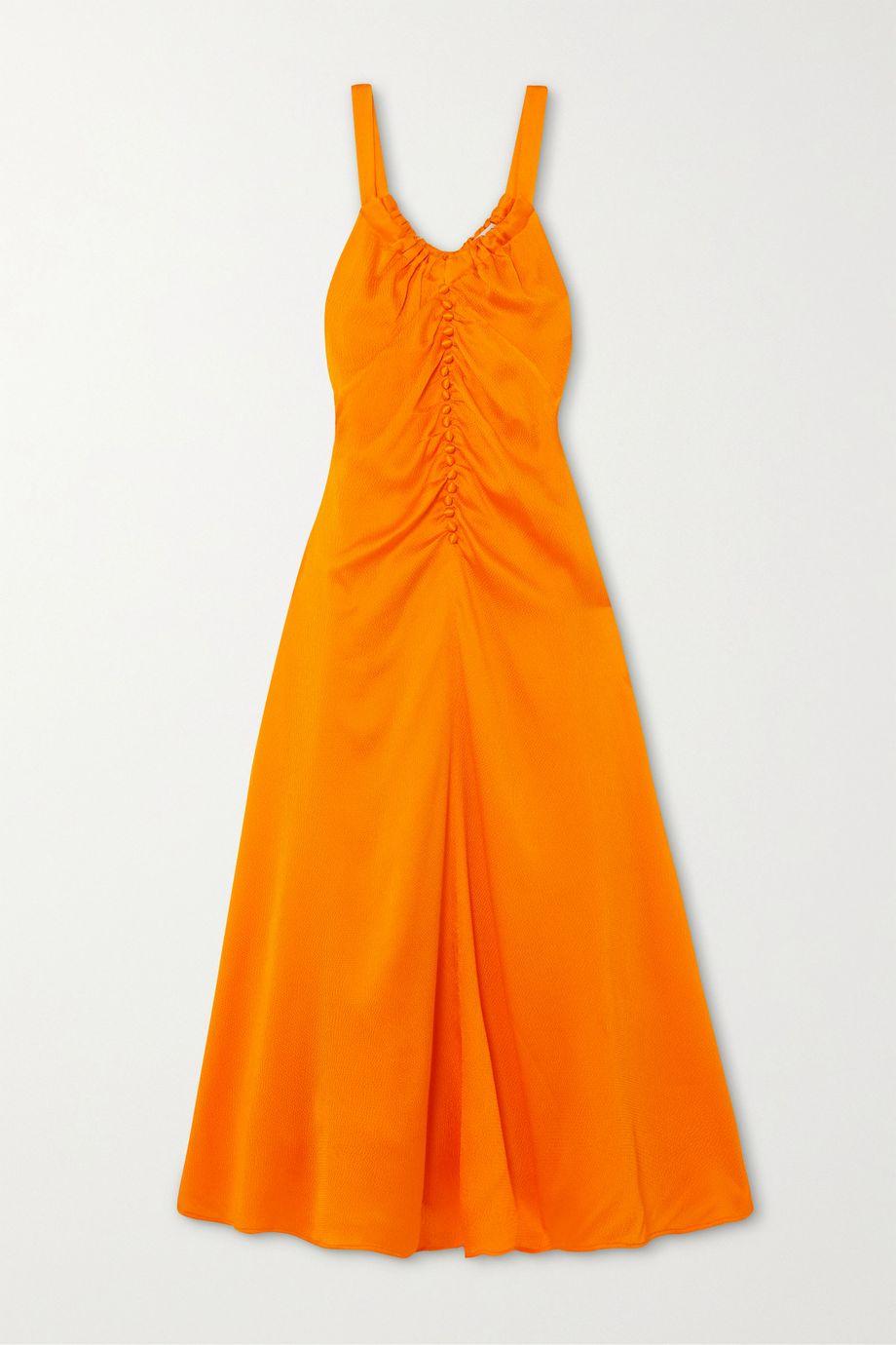 REJINA PYO Toni ruched silk-cloqué midi dress