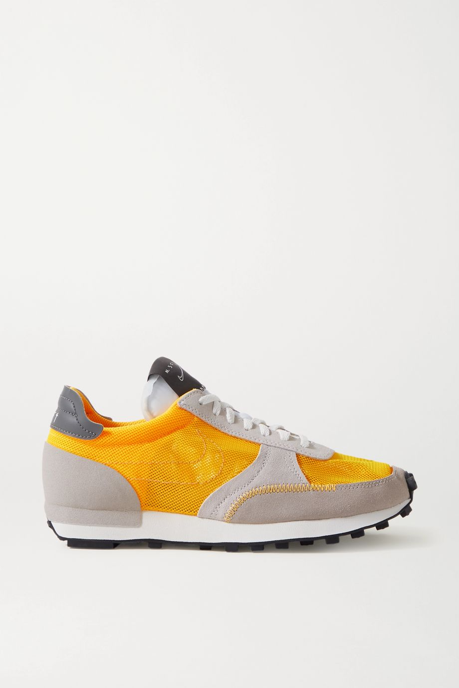 Nike Daybreak leather-trimmed mesh and suede sneakers