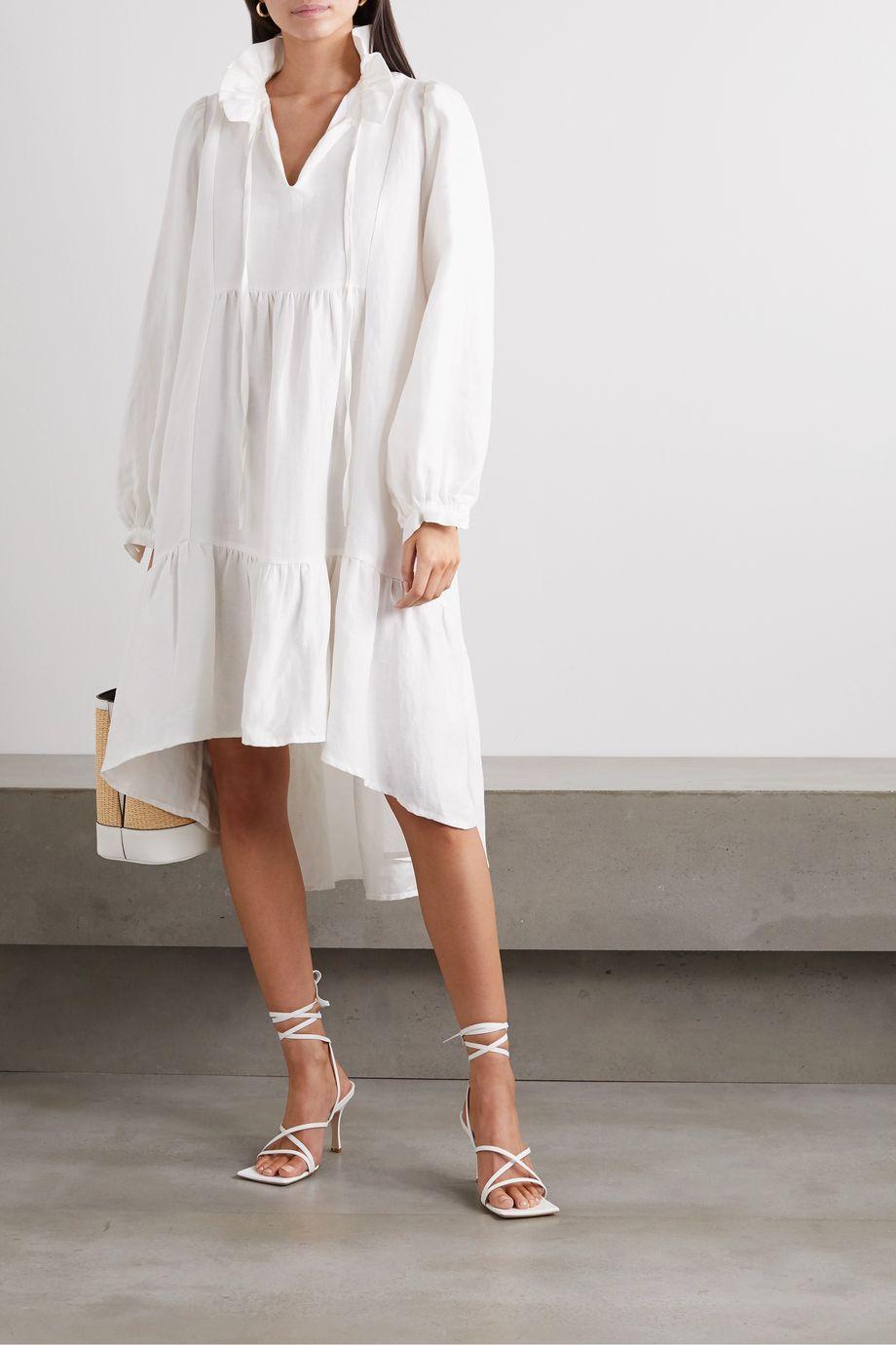 Àcheval Pampa Campo asymmetric linen and silk-blend midi dress