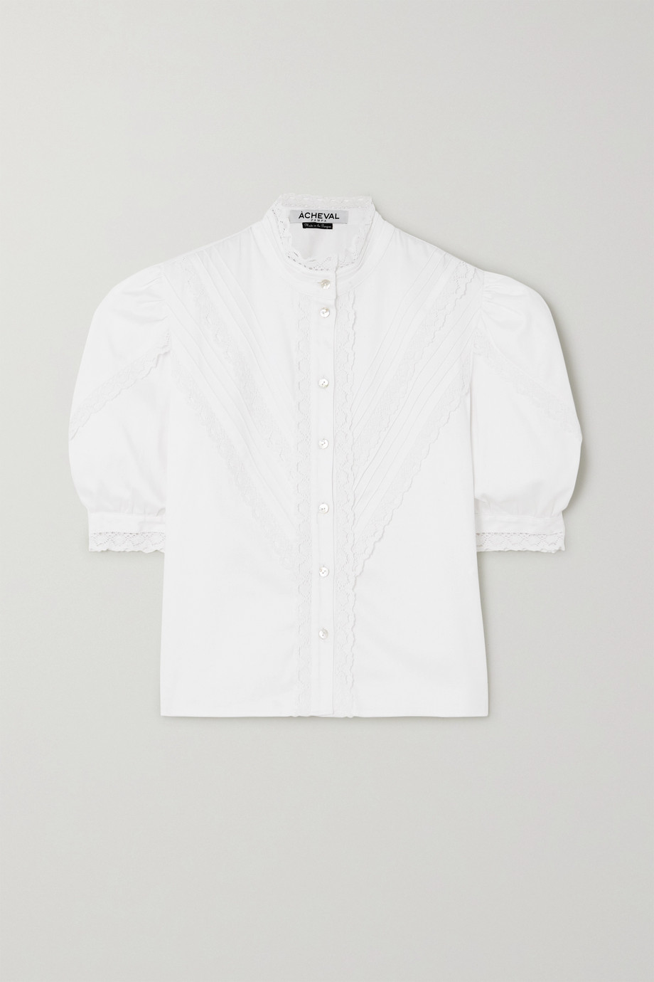 Àcheval Pampa Yegua lace-trimmed cotton-blend blouse