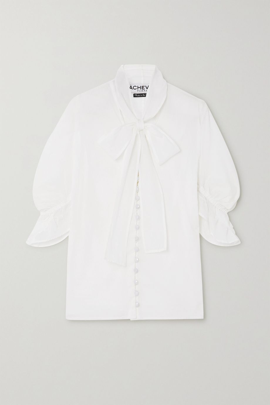 Àcheval Pampa Chiquita ruffled pussy-bow cotton-voile blouse