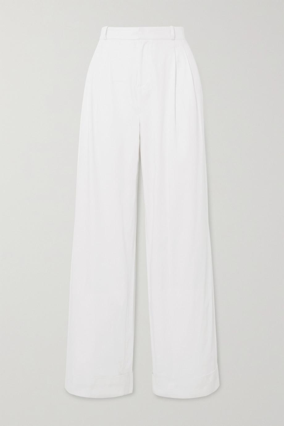 Àcheval Pampa Pantalon large en coton mélangé Gardel