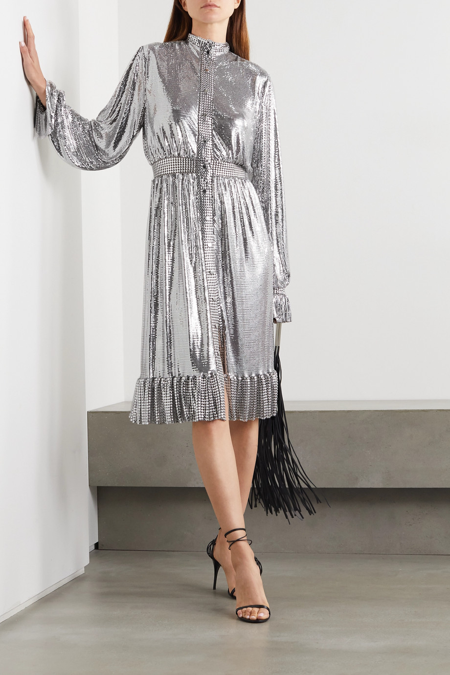 Paco Rabanne Chainmail midi dress