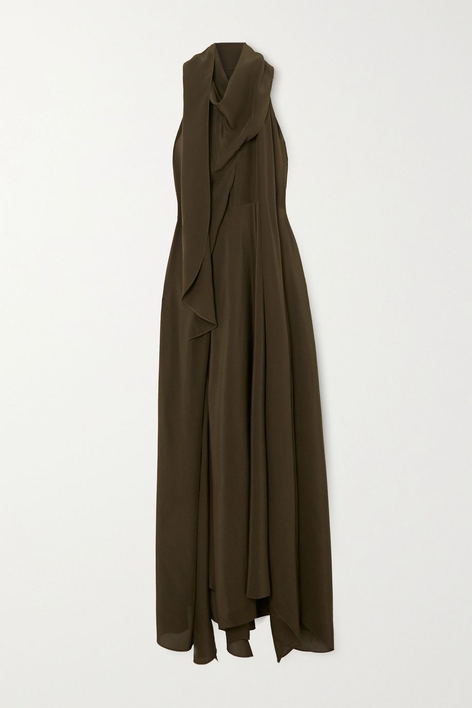 Petar Petrov Aliya draped silk-georgette maxi dress