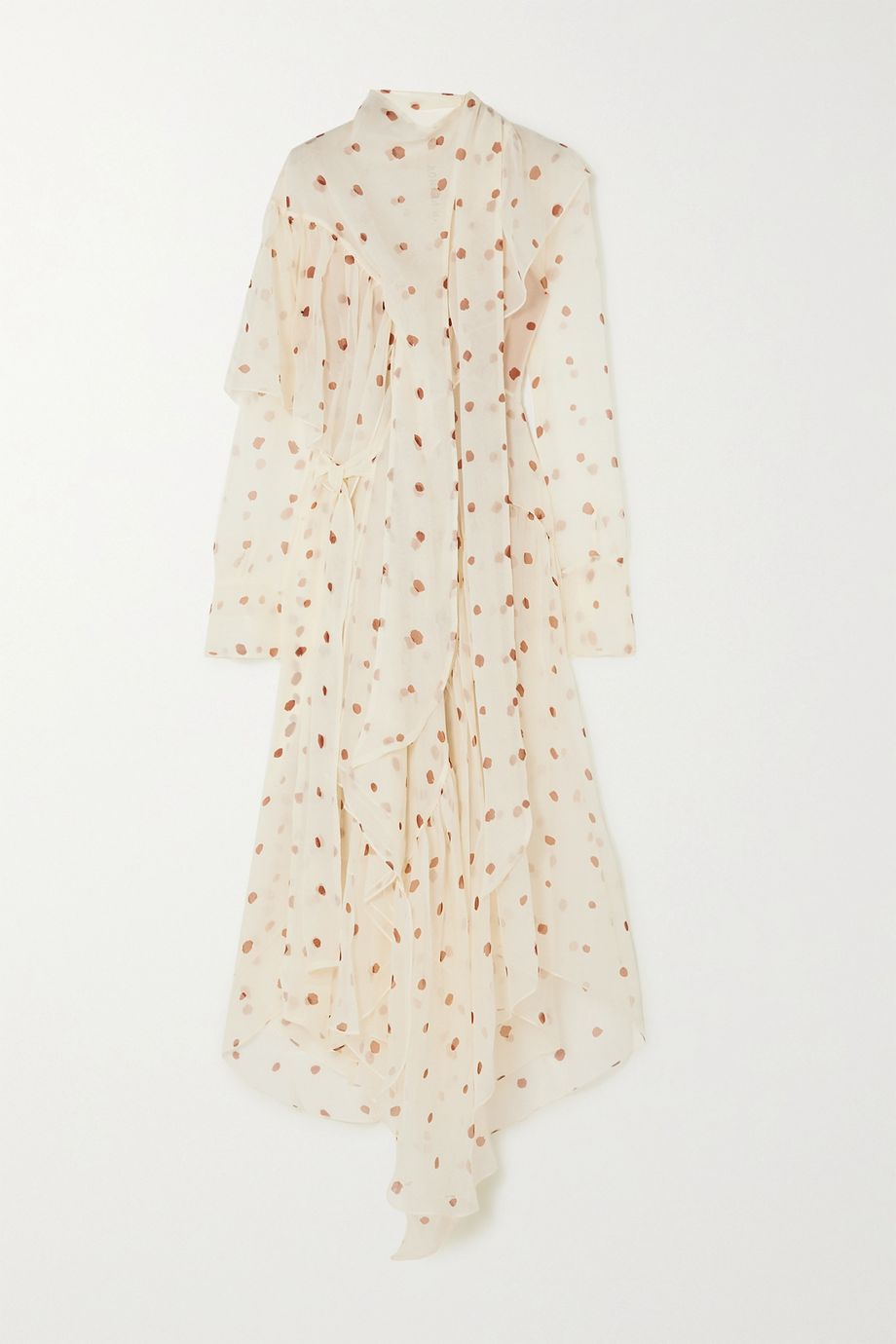 Petar Petrov Alonsa asymmetric polka-dot silk-chiffon dress