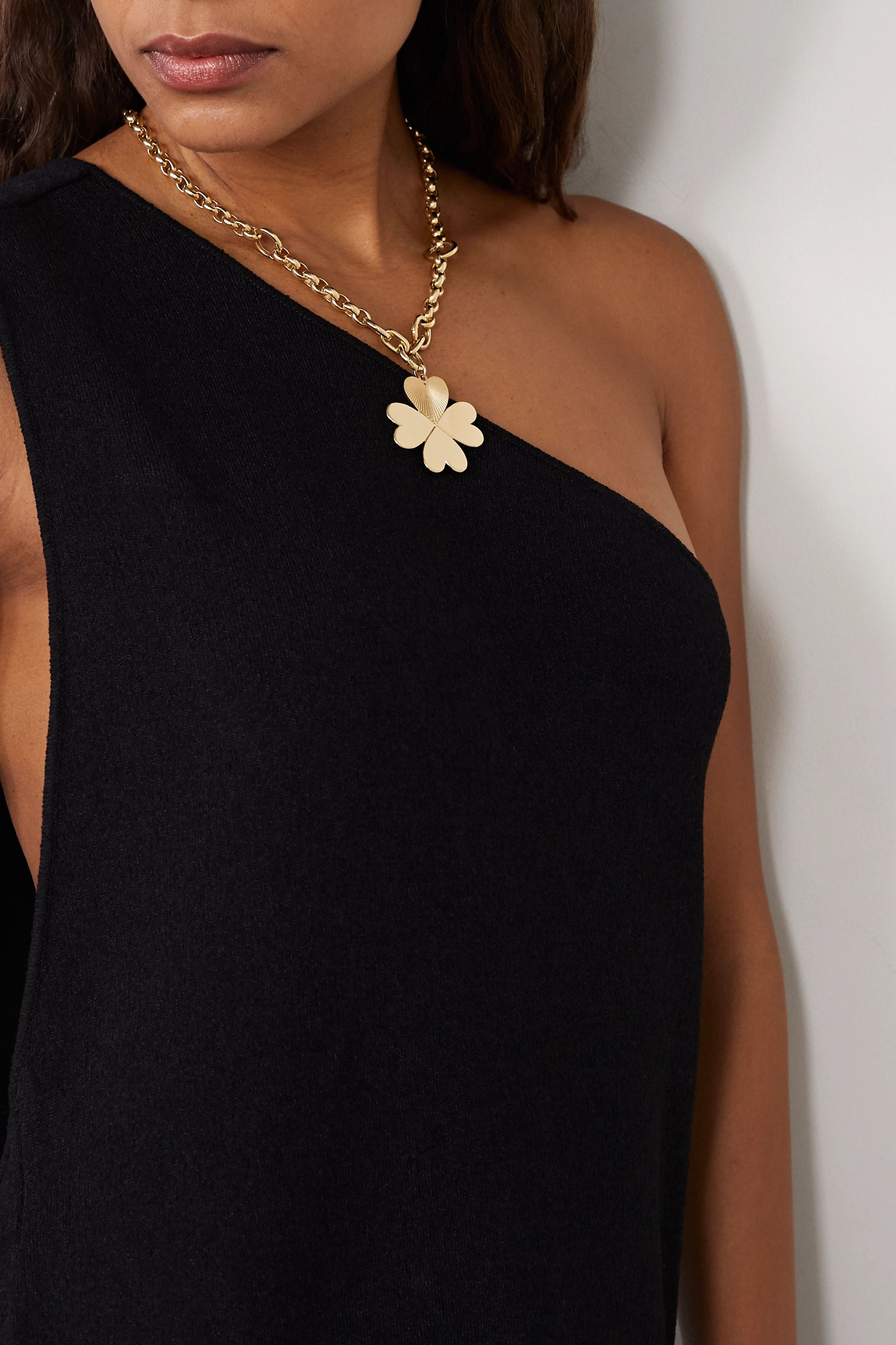 Foundrae Four Heart Clover 18-karat gold necklace