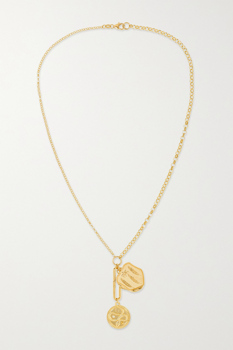 Foundrae Wholeness and Pax 18-karat gold diamond necklace