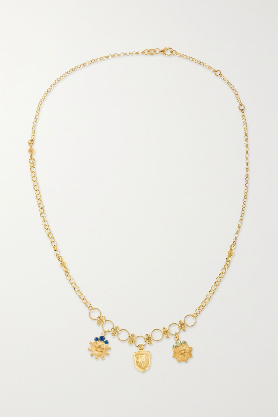 Foundrae 18-karat gold sapphire necklace