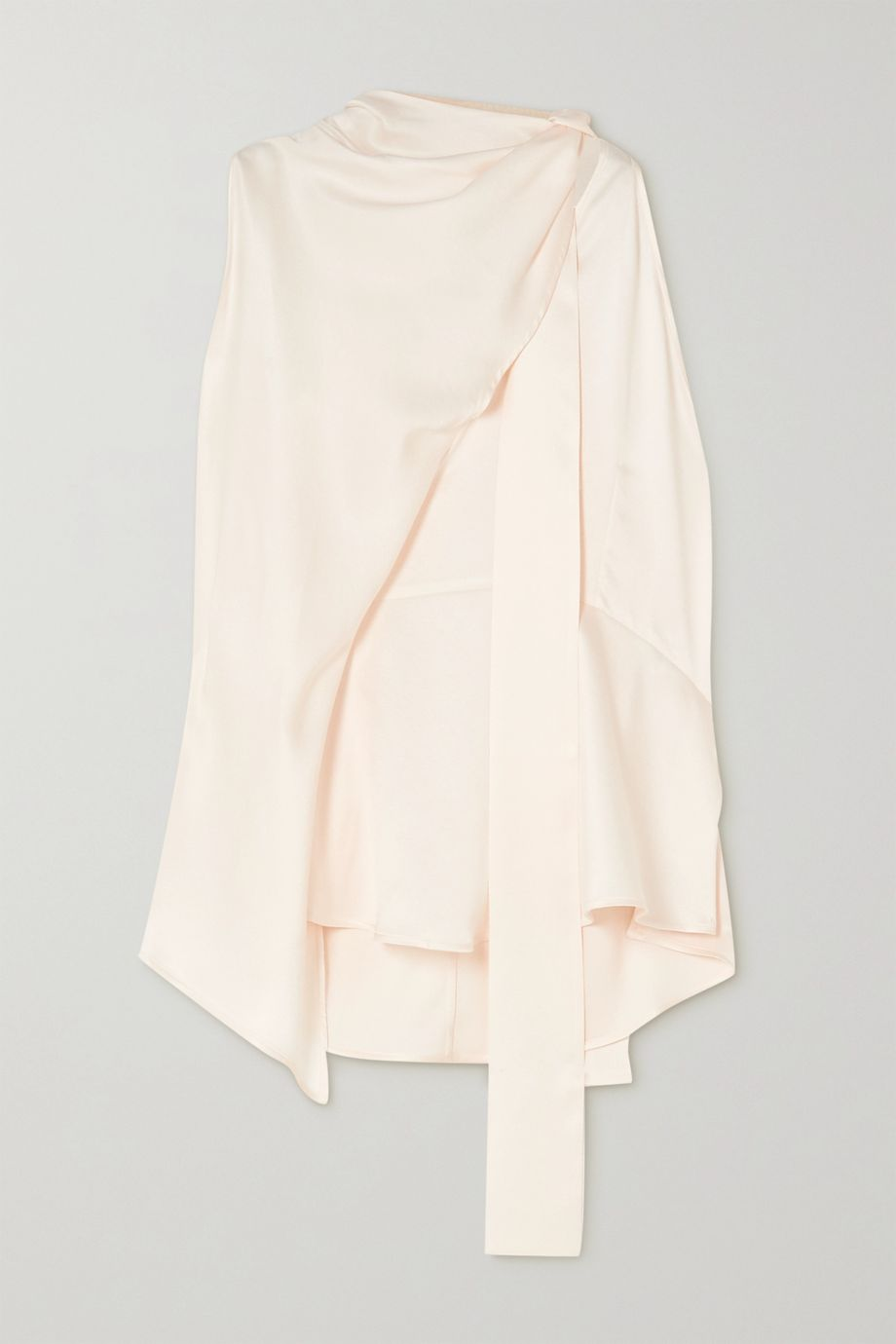 Petar Petrov Cian draped layered stretch-silk top