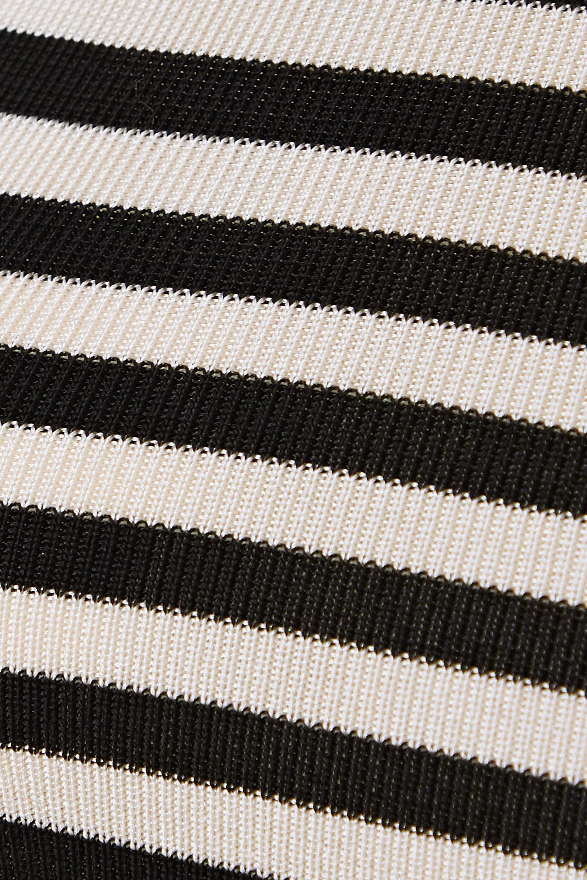 Petar Petrov Kosta striped ribbed-knit halterneck top