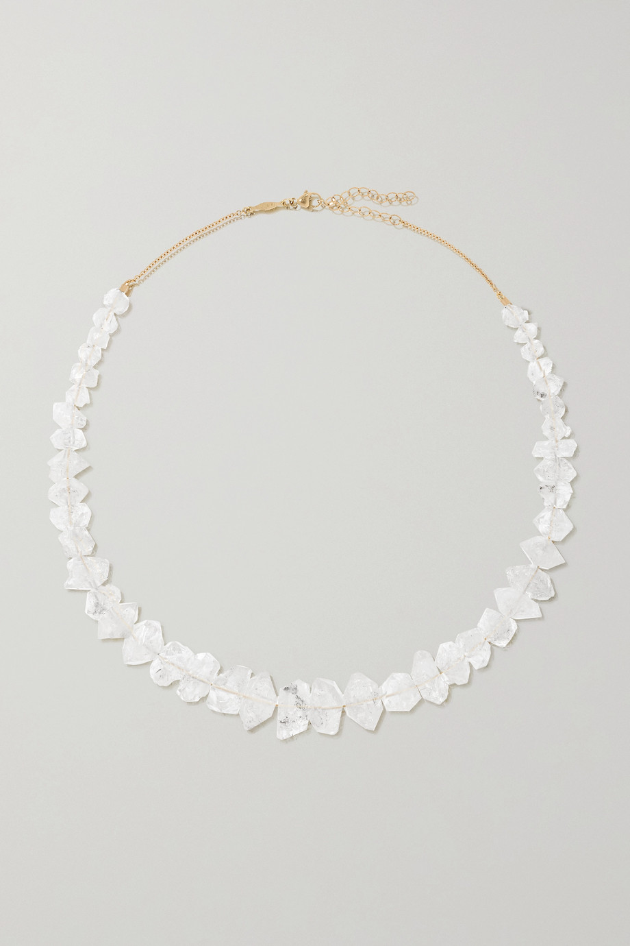 Jacquie Aiche 14-karat gold quartz necklace