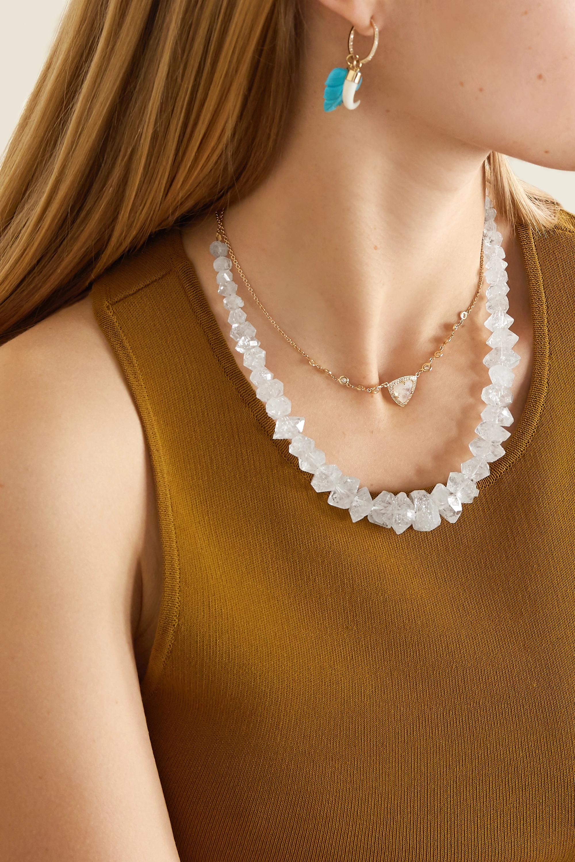 Jacquie Aiche 14-karat gold quartz necklace