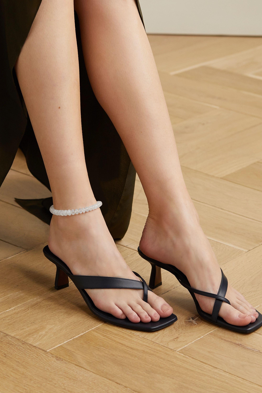 Jacquie Aiche 14-karat rose gold moonstone anklet